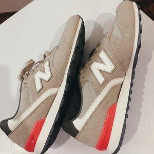 New Balance 574 Sneakers in Nude/Orange